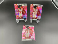2019-20 Panini Mosaic Coby White Bulls NBA Debut Pink Prizm RC 3 Card LOT -