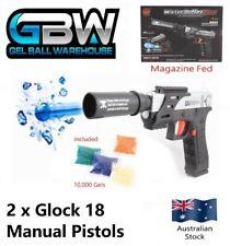 Gel Blaster Pistol Glock 18 Manual Magazine (2) Crystal Water Bullet Toy