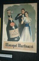 Advertising & clipping pubblicità 1940 monopol martinazzi  liquore very good