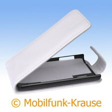 Flip Case Etui Handytasche Tasche Hülle f. LG E610 Optimus L5 (Weiß)