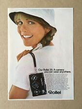 "1978 ROLLEI 35S Camera ""A camera you can wear..."" Original Print Ad 7.25""x10.25"""