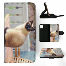 APPLE iPHONE FLIP LEATHER CASE WALLET COVER|SIAMESE CAT 4