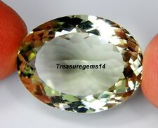 14 CT RING SIZE NATURAL GREEN AMETHYST OVAL CUT  FACETED CABOCHON GEMSTONE B26