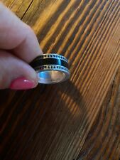 Thomas Sabo Black Ceramic Ring with Zirconia Embellishment - Excellent Condition
