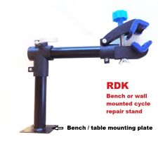 Heavy Duty Wall Mount Bike Repair Stand Folding Clamp Cycle Bicycle Rack Tool