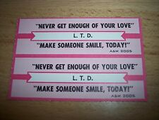 "2 L.T.D. Never Get Enough Of Your Love Jukebox Title Strip CD 7"" 45RPM"