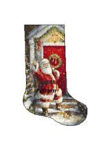 Santa Christmas Stocking. Cross Stitch Pattern.