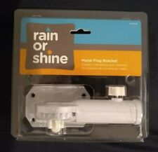 Rain or Shine Metal Flag Pole Mounting Bracket 9 Positions New Hy-P5S White