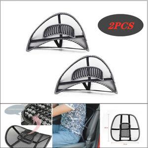 2x Mesh Lumbar Back Support Cushion Seat Posture Corrector Car Auto Office Home