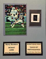 Barry Sanders Lions Photo Negative Matte 11x14 Photographers Negative Included C
