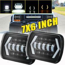 "2PCS 105W 5X7"" LED Projector Headlight Hi-Lo Beam Halo DRL For Jeep Cherokee XJ"