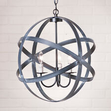 "18"" Strap Sphere Metal Hanging Lamp Pendant Light By Irvins Country Tinware"