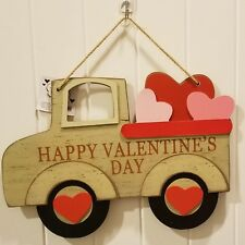 """New! Valentine'S Day Rustic Truck~Big 13.5"""" Wide! Red Pickup Truck Farmhouse"""