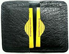 NEW CARD HOLDER BLACK Genuine OSTRICH Exotic SMOOTH Skin BUSINESS Credit Cards