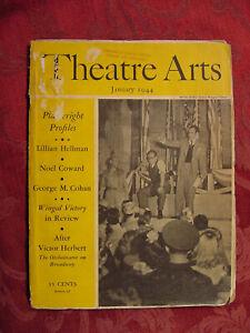 THEATRE ARTS January 1944 Moss Hart Noel Coward George M. Cohan Lillian Hellman