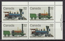 CANADA #999-1000 32¢ Canadian Locomotives UR Inscription Block MNH