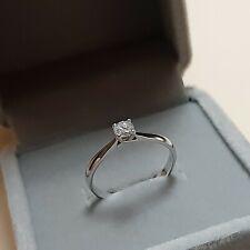 Diamond engagement ring 18k saudi white gold .25 carat dia size 6.5
