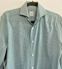 Sartoria Vanni Firenze Italy Luxury Blue and Green Button Down Shirt Size Large