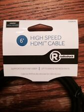 Radio Shack HDMI CABLE 6FT For BLURAY 3D DVD PS3 HDTV XBOX LCD HD TV 1080P