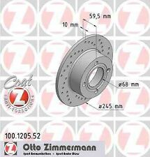 Disque de frein arriere ZIMMERMANN PERCE 100.1205.52 AUDI COUPE 2.2 GT 136 115ch