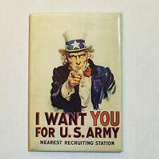 Fridge / Tool Box Retro Magnet Uncle Sam I Want You