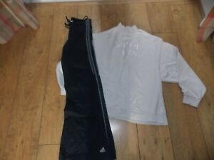 LADIES ADIDAS TRACKSUIT BOTTOMS SUPERDRY JUMPER SIZE 12