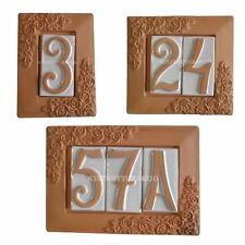 NUMERO CIVICO TERRACOTTA numeri civici componibili con cornice ceramica esterni
