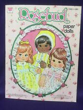 Vintage Paper Dolls By Whitman Featuring Rosebud, Three Cut Outs Mattel 1978