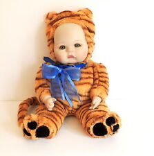 """Marie Osmond Doll Baby In Tiger Outfit 17"""" Tall  Infant 12"""" Seated #276/13000"""