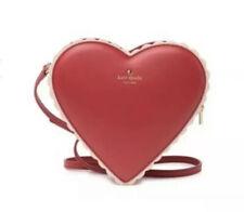 Nuevo con etiquetas Kate Spade Corazón De Chocolate Tuyo verdaderamente Bolsa De Cuero Rojo San Valentín