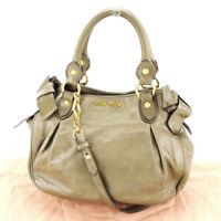miumiu Handbag Brown Woman unisex Authentic Used T3387