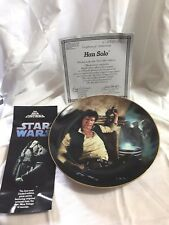 Star Wars Han Solo Limited Numbered China Plate, Hamilton 1986