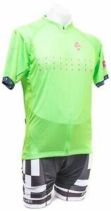 Panache Short Sleeve Cycling Kit Men 2XL Hi Vis Green Road Bike Mountain Gravel