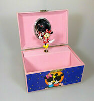 Disney IMA Minnie Mouse Spieluhr & Schmuckkästchen Small World Vintage RAR