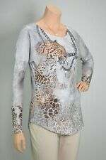 MISSY Tunika Langarmshirt Leopard Snake Print - mit Strass & Glitzer - MUST HAVE