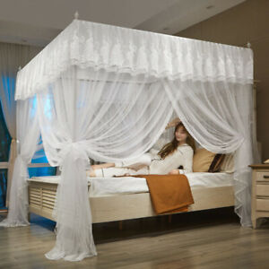 on sales China mosquito net bed curtain peacock design bed canopy with frames