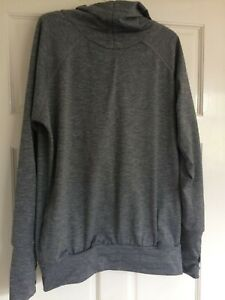 Sweaty Betty grey hooded running top size small very good condition