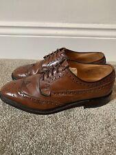 Mens Brown Loake & Sons Braemar Brogues Shoes *UK Size 8*