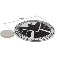 1X Avenger Marvel Agent of SHIELD 3D Chrome Metal Car Sticker Badge Emblem Decal