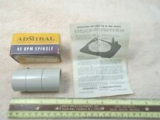 NOS NIB ADMIRAL 45 RPM RECORD PLAYER TURNTABLE SPINDLE ADAPTER 45SP 400C 770-1