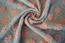 Walkloden Tissu Fleur de Loden Laine Walkstoff 25 x 150 cm Gris clair