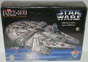 Puzz3D Vintage 1995 Star Wars Millennium Falcon 3D Puzzle by Wrebbit SEALED