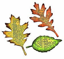 Sizzix Bigz Tattered Leaves die #656927 Retail $19.99 Cuts Fabric, Tim Holtz!!!