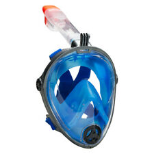 Leader Full-Face Adult Snorkel Swimming Mask - Blue, Gunmetal (NEW) Lists @ $80