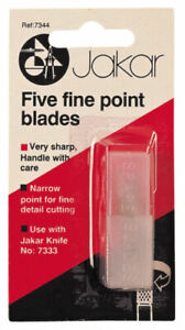 Five Fine Point Knife Narrow Blade Replacement Refill Spare Blades Jakar 7344-B