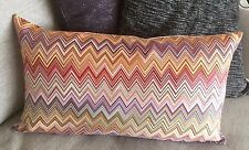 "MISSONI JOHN 156O zigzag CUSHION COVER 30x50cm 12""x20"" 100% SATEN WITHOUT PILLOW"