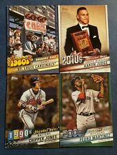 2020 Topps Series 1 Inserts Decade's Best with Chrome Blue Green You Pick