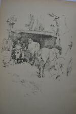 JAMES MCNEILL WHISTLER ORIGINAL ANTIQUE LITHOGRAPH THE SMITH'S YARD 1895