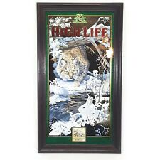 Vintage Miller High Life Bobcat Wall Mirror Scott Zoellick Wildlife Series Cat