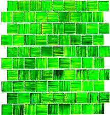 Glasmosaik grün Fliesenspiegel Küchenrückwand Spritzschutz 68-CF43 10Matten
